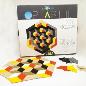 Textil mozaik matrica készlet- OP-ART II. (carawonga) - Meska.hu
