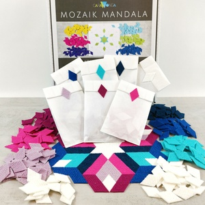 Mozaik mandala DIAMOND, DIY (Csináld magad), Egységcsomag, Mozaik, Újrahasznosított alapanyagból készült termékek, \n\nSzeretsz alkotni? Könnyed kikapcsolódást keresel?\n\nA caraWonga matricák nagyszerűsége az egyszerűs..., Meska
