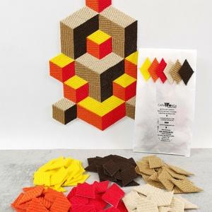 Mozaik matrica csomag 5. , DIY (Csináld magad), Egységcsomag, Mozaik, \n\nA caraWonga mozaik matricák egy 60 db-os készlet, mely öntapadós, színes textil mozaik matricákat ..., Meska