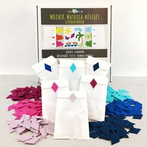 Mozaik matrica csomag GYEREKEKNEK 2., DIY (Csináld magad), Egységcsomag, Újrahasznosított alapanyagból készült termékek, Mozaik, A caraWonga mozaik matricáin keresztül az alkotás örömét tapasztalják meg a gyerekek..\nEmellett fejl..., Meska