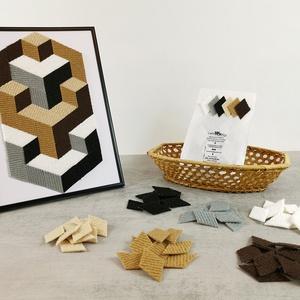 Mozaik matrica csomag 1. , DIY (Csináld magad), Egységcsomag, Mozaik, \n\nA caraWonga mozaik matricák egy 60 db-os készlet, mely öntapadós, színes textil mozaik matricákat ..., Meska