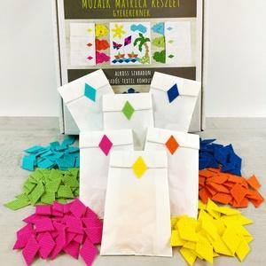 Mozaik matrica csomag GYEREKEKNEK 4., DIY (Csináld magad), Egységcsomag, Mozaik, Újrahasznosított alapanyagból készült termékek, A caraWonga mozaik matricáin keresztül az alkotás örömét tapasztalják meg a gyerekek..\nEmellett fejl..., Meska