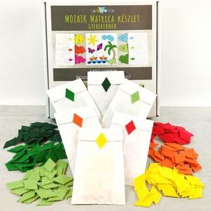 Mozaik matrica csomag GYEREKEKNEK 5., DIY (Csináld magad), Egységcsomag, Mozaik, Újrahasznosított alapanyagból készült termékek, A caraWonga mozaik matricáin keresztül az alkotás örömét tapasztalják meg a gyerekek..\nEmellett fejl..., Meska