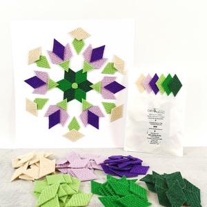 Mozaik matrica csomag 6., DIY (Csináld magad), Egységcsomag, Újrahasznosított alapanyagból készült termékek, Mozaik, \n\nA caraWonga mozaik matricák egy 60 db-os készlet, mely öntapadós, színes textil mozaik matricákat ..., Meska
