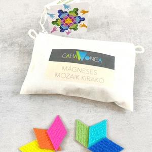Mágneses mozaik kirakó 1., Játék & Gyerek, Készségfejlesztő & Logikai játék, Mozaik, Újrahasznosított alapanyagból készült termékek, A mágneses mozaik kirakó készletben különböző színű rombuszok találhatók,\namiket bármilyen fém felül..., Meska