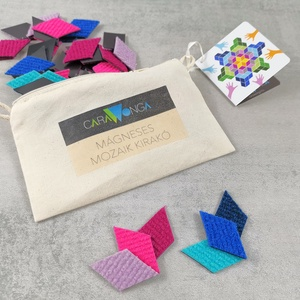 Mágneses mozaik kirakó 2., Játék & Gyerek, Készségfejlesztő & Logikai játék, Mozaik, Újrahasznosított alapanyagból készült termékek, \nA mágneses mozaik kirakó készletben különböző színű rombuszok találhatók,\namiket bármilyen fém felü..., Meska