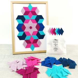 Mozaik matrica csomag 2., DIY (Csináld magad), Egységcsomag, Mozaik, \n\nA caraWonga mozaik matricák egy 60 db-os készlet, mely öntapadós, színes textil mozaik matricákat ..., Meska
