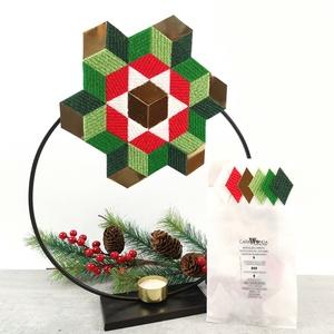 KARÁCSONYI MOZAIK MATRICA CSOMAG 1., DIY (Csináld magad), Egységcsomag, Mozaik, Ennek a csomagnak a színeit az adventre hangoltuk. Készíts belőle asztaldíszt, ajtó dekorációt, kará..., Meska
