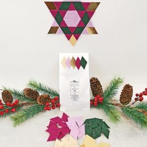 KARÁCSONYFADÍSZ KÉSZÍTŐ CSOMAG 2., DIY (Csináld magad), Egységcsomag, Mozaik, Ezt a csomagot az advent időszakához igazítottuk. Készíthetsz belőle asztaldíszt, karácsonyfadíszt, ..., Meska