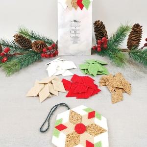 KARÁCSONYFADÍSZ KÉSZÍTŐ CSOMAG 1., DIY (Csináld magad), Egységcsomag, Mozaik, Ezt a csomagot az advent időszakához igazítottuk. Készíthetsz belőle asztaldíszt, karácsonyfadíszt, ..., Meska