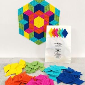 Mozaik matrica csomag 4. , DIY (Csináld magad), Egységcsomag, Mozaik, \n\nA caraWonga mozaik matricák egy 60 db-os készlet, mely öntapadós, színes textil mozaik matricákat ..., Meska