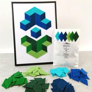 Mozaik matrica csomag 3. , DIY (Csináld magad), Egységcsomag, Mozaik, \n\nA caraWonga mozaik matricák egy 60 db-os készlet, mely öntapadós, színes textil mozaik matricákat ..., Meska