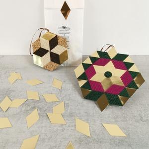 Mozaik matrica ARANY, DIY (Csináld magad), Egységcsomag, Mozaik, \nAz arany mozaik matrica egy 30 db-os készlet, mely öntapadós, arany mozaik matricákat tartalmaz. A ..., Meska