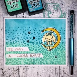 Te vagy a legjobb barát nyuszis képeslap , Képeslap & Levélpapír, Papír írószer, Otthon & Lakás, Papírművészet, Küldj egy borítéknyi szeretetet ezzel a képeslappal! Mondd el a barátodnak/barátnődnek, hogy mennyir..., Meska