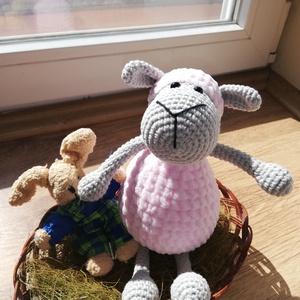 Horgolt bárány, Más figura, Plüssállat & Játékfigura, Játék & Gyerek, Horgolás, A bárány 100% gyermekbarát, pamut fonalból készült. Biztonsági szemmel ellátva. \nMérete: 25 cm (ülve..., Meska