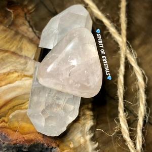 Rózsakvarc AAA csúcsminőségű nemesacél gyűrű, Ékszer, Gyűrű, Többköves gyűrű, Ékszerkészítés, Meska