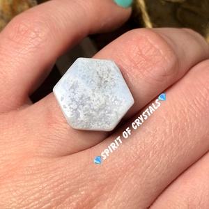 Kalcedon gyűrű, Ékszer, Gyűrű, Ékszerkészítés, Meska