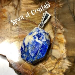 Lapis Lazuli fazettált medál - ékszer - nyaklánc - medál - Meska.hu