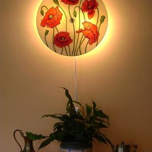 Pipacsok tánca fali lámpa - hangulatlámpa (cecameca) - Meska.hu