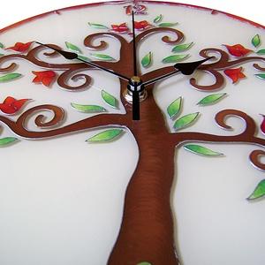 Tulipános életfa falióra (cecameca) - Meska.hu