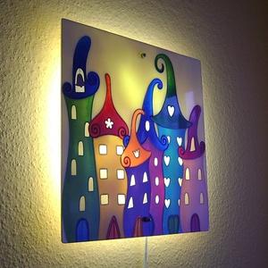 Meseváros fali lámpa - hangulatvolágítás gyerekszobába (cecameca) - Meska.hu