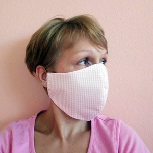 Rózsaszín pamut szájmaszk / arcmaszk,  mosható egészségügyi maszk, NoWaste, Textilek, Egyéb, Táska, Divat & Szépség, Ruha, divat, Kendő, Varrás, Mosható, vasalható, formatartó, újra felhasználható, igényes kivitelezésű szájmaszk, kétrétegű pamut..., Meska