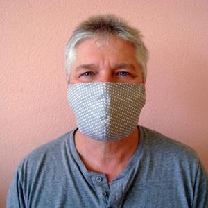 Férfi szájmaszk / arcmaszk,  szürke,  mosható egészségügyi maszk (cecameca) - Meska.hu