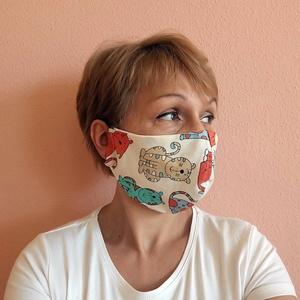 Cicás mosható szájmaszk, formatartó, mosható, vasalható arcmaszk, szemüveghez is , NoWaste, Táska, Divat & Szépség, Textilek, Szépség(ápolás), Maszk, szájmaszk, Mosható, vasalható, formatartó, újra felhasználható, igényes kivitelezésű szájmaszk, kétrétegű pamut..., Meska