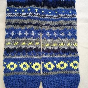 Lábszármelegítő. Kék szürke és banán színű norvég  mintás kézi kötésű lábszármelegítő eladó, Ruha & Divat, Sál, Sapka, Kendő,  Kék, szürke és banán színű norvég  mintás kézi kötésű lábszármelegítő eladó. Puha, meleg fonalból k..., Meska