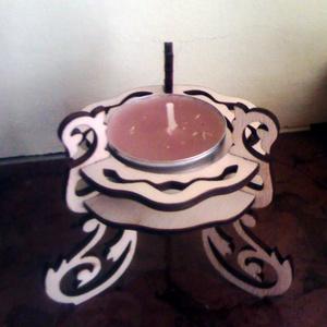 Fából készült mécsestartó gyertyatartó, Lakberendezés, Otthon & lakás, Egyéb, Dekoráció, Gyertya, mécses, gyertyatartó, Famegmunkálás, Fából, kézzel és lézervágással készített magyar termék, új.\n\n, Meska