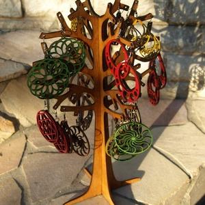 Fából készült ékszerfa ékszertartó fa 36 cm, Ékszertartó állvány, Ékszertartó, Ékszer, Famegmunkálás, Fából, kézzel és lézervágással készített magyar termék, új.\nMéret: 36 cm magas, Meska
