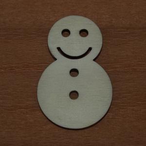 Fa natúr hóember - 4 db - 80 Ft/db, Dekorációs kellékek, Fa, Famegmunkálás, Fából készült natúr hóember.\nAz ár 4 db-ra együtt értendő.\n\nMérete: 5 cm\n\nKérésre tetszőleges méretb..., Meska