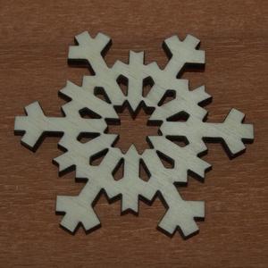 Fa hópihe - 4 db - 100 Ft/db, Dekorációs kellékek, Fa, Famegmunkálás, Fából készült natúr fa hópihe.\nAz ár 4 db-ra együtt értendő.\n\nMérete: 5 cm, Meska