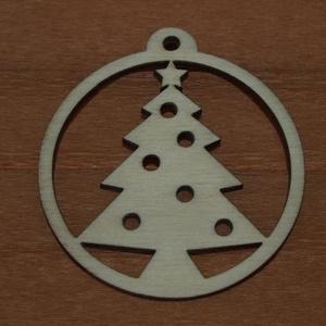Fa natúr karácsonyi gömb - 2 db - 150 Ft/db, Dekorációs kellékek, Fa, Famegmunkálás, Fából készült natúr karácsonyfadísz.\nAz ár 2 db-ra együtt értendő.\n\nMérete: 5 cm\n\nKérésre egyedi mér..., Meska