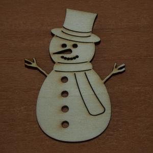 Fa natúr hóember - 2 db - 180 Ft/db, Dekorációs kellékek, Fa, Famegmunkálás, Fából készült natúr hóember.\nAz ár 2 db-ra együtt értendő.\n\nMérete: 8 cm\n\nKérésre tetszőleges méretb..., Meska