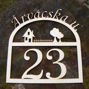 Utcanévtábla, házszámtábla, utcanév tábla, házszám tábla (Cerving) - Meska.hu