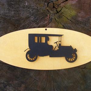 Régi autó sziluett fából, falidísz, Lakberendezés, Otthon & lakás, Falikép, Dekoráció, Dísz, Famegmunkálás, Fából készített falidísz.\nMérete: 35 x 10  cm, igény szerint más méretben és más színben is el tudju..., Meska