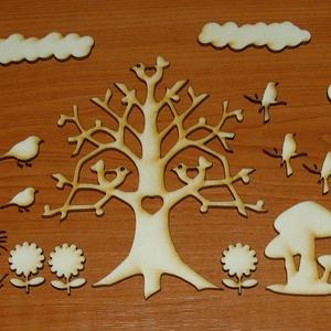 Kreatív DIY dekoráció kicsiknek nagyoknak , Egységcsomag, DIY (Csináld magad), Famegmunkálás, Fából, kézzel és lézervágással készített magyar termék, új.\nA csomag darabjaiból készülhet pl. falik..., Meska
