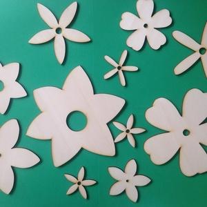 Fa virágok dekor alap több méretben 4-15 cm 11 db , Dekorációs kellékek, Fa, Famegmunkálás, Fából készült natúr, festhető, színezhető, ragasztható, kezeletlen, fa virág alapok.\nAz ár 11 db-ra ..., Meska