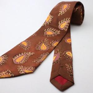 hernyóselyem nyakkendő bordó török mintás, Nyakkendő, Férfi ruha, Ruha & Divat, Selyemfestés, 100% selyemből készült, kézzel festett egyedi tervezésű különleges férfi nyakkendő. A nyakkendő desi..., Meska