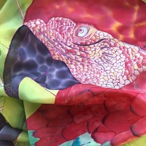 Piros papagáj (chakrasilk) - Meska.hu