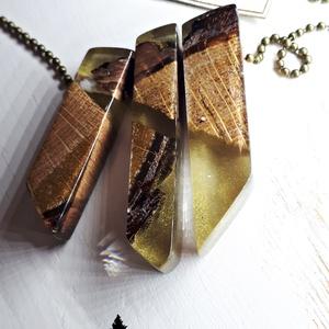 3in1 rusztikus medál(ok), Ékszer, Medál, Esküvő, Esküvői ékszer, Nászajándék, Ékszerkészítés, Famegmunkálás, Három az egyben arany színű medál. \n3 részből áll, ami teljesen összeillik. 3 medált kaphat most egy..., Meska