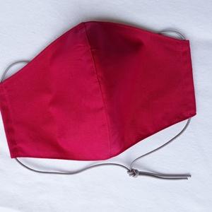 Sötét rózsaszín szájmaszk, textil szájmaszk, többször használható szájmaszk (ChristieHomemade) - Meska.hu