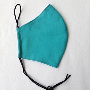 Türkizkék szájmaszk, textil szájmaszk, többször használható szájmaszk (ChristieHomemade) - Meska.hu