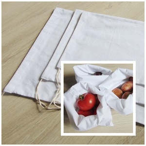 Zöldség- gyümölcs textil zsák /3 db-os pamut  ökozsák csomag   / bevásárló zsák, környezetbarát zacskó, textil zsák, Zöldség/Gyümölcs zsák, Bevásárlás & Shopper táska, Táska & Tok, Varrás, Környezetbarát, gyümölcsös, zöldséges bevásárló tasakok\n- 3 db pamut vászon zsák\n- fehér\n- többször ..., Meska