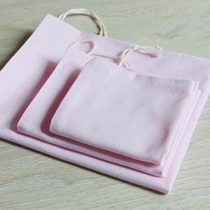 Rózsaszín textil zsák csomag (3 db/ cs)  / ökozsák, bevásárló zsák, környezetbarát zacskó, NoWaste, Bevásárló zsákok, zacskók , Textilek, Varrás, Környezetbarát, gyümölcsös, zöldséges bevásárló tasakok\n- rózsaszín\n- többször használható\n- strapab..., Meska