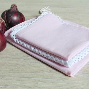 Zöldség- gyümölcs textil zsák csomag (3 db/ cs)  / ökozsák, bevásárló zsák, környezetbarát zacskó, Zöldség/Gyümölcs zsák, Bevásárlás & Shopper táska, Táska & Tok, Varrás, Környezetbarát, gyümölcsös, zöldséges bevásárló tasakok\n- 2 db textil zsák, 1 db hálós zsák\n- fehér ..., Meska