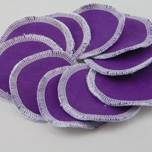 Arctisztító korongok ( 10 db/ cs ) / textil sminktörlő korong.  Többször használható arctisztító pamacs, NoWaste, Textilek, Pamut arctisztító, Táska, Divat & Szépség, Szépség(ápolás), Fürdőszobai kellék, Varrás, -Többször felhasználható, egyedi, puha, textil arctisztító korongok.\n-lila\n-mosható, tisztítható\n-hu..., Meska