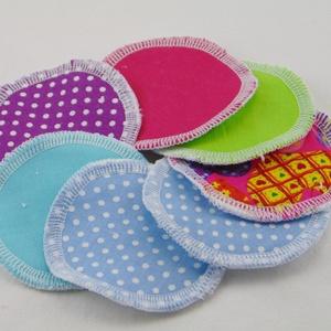 Arctisztító korongok ( 7 db/ cs ) / textil sminktörlő korong.  Többször használható arctisztító pamacs, NoWaste, Textilek, Pamut arctisztító, Táska, Divat & Szépség, Szépség(ápolás), Fürdőszobai kellék, Varrás, -Többször felhasználható, egyedi, puha, textil arctisztító korongok.\n-vegyes színek\n-mosható, tisztí..., Meska