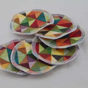 Arctisztító korongok ( 6 db/ cs ) / textil sminktörlő korong.  Többször használható arctisztító pamacs, NoWaste, Textilek, Pamut arctisztító, Táska, Divat & Szépség, Szépség(ápolás), Fürdőszobai kellék, Varrás, -Többször felhasználható, egyedi, puha, textil arctisztító korongok.\n-mozaik mintás\n-mosható, tisztí..., Meska